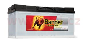110Ah battery, 850A, right, BANNER Power Bull Professional 394x175x190