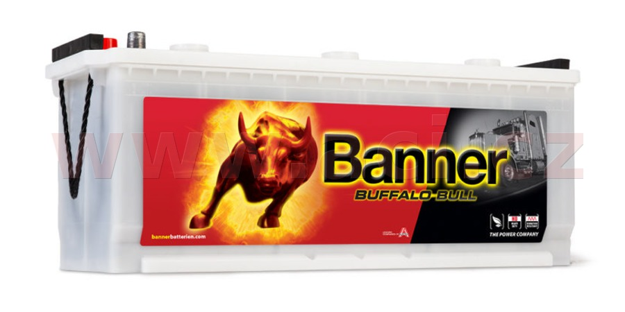 120Ah battery, 720A, left BANNER Buffalo Bull 514x189x195(220)