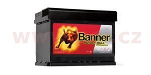 50Ah battery, 400A, right BANNER Power Bull Professional 210x175x175