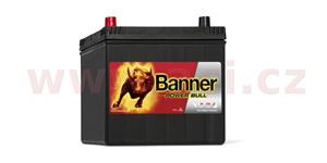60Ah battery, 480A, left BANNER Power Bull 233x173x203(225)