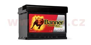63Ah battery, 600A, right BANNER Power Bull Professional 241x175x175