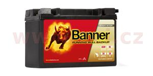 9Ah battery, 120A, right BANNER Running Bull AGM BACKUP 150x88x106