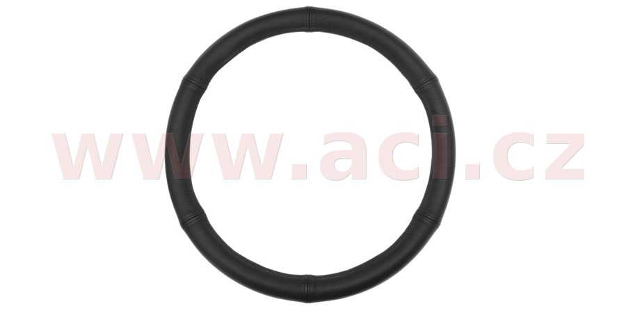 cover for steering wheel (black leather on the rubber base, black seam)